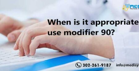 When is it appropriate to use modifier 90?